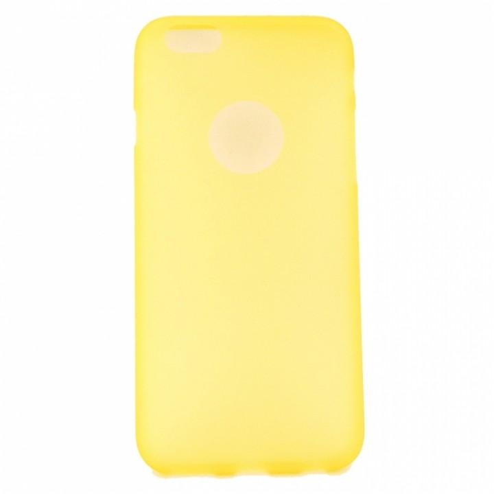 Крышка Apple iPhone 5/5S Силикон Матовый (Желтый)