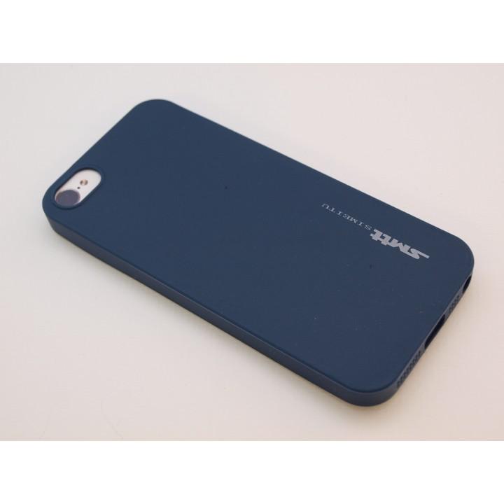 Крышка Apple iPhone 5/5S Силиконовая SMTT (Синяя)