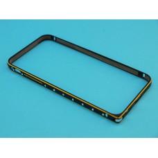 Бампер Apple iPhone 6 / 6s King металлический со стразами