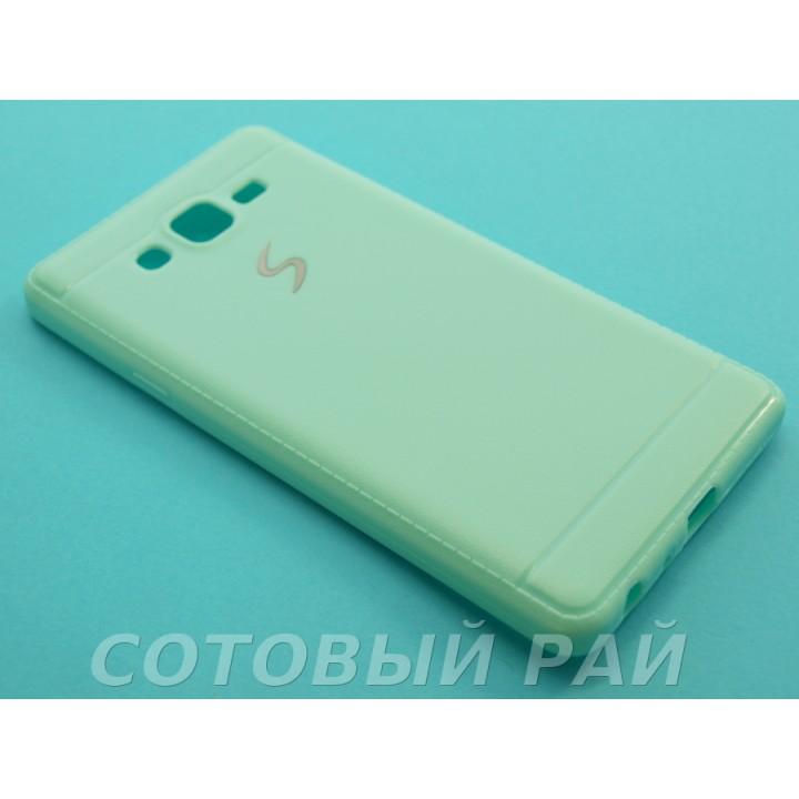 Крышка Samsung G6000 (ON7) Силикон Paik (Бирюзовая)