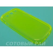 Крышка Samsung i9300 (S3) Just Slim Силикон (Желтая)