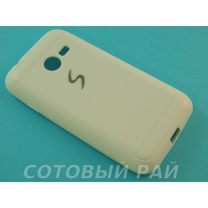 Крышка Samsung G313/G318 (Ace 4 Lite) Силикон Paik (Белая)