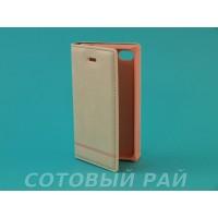 Чехол-книжка Apple iPhone 4/4S Silikon2 Боковой (Розовый)