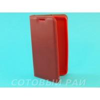 Чехол-книжка Nokia 430 (Microsoft) Silikon2 Боковой (Красный)