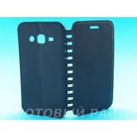 Чехол-книжка Samsung J200h (J2) COMK Бок (Черный)