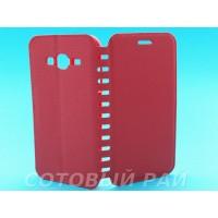 Чехол-книжка Samsung J300/J320 (J3/J3-2016) COMK Бок (Красный)