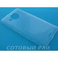Крышка Nokia 950 XL Microsoft Just Slim Силикон (Прозрачная)