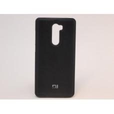 Крышка Xiaomi MI 5S+ Кожа с прострочкой (Черная)