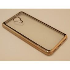 Крышка Meizu M3 Note Металлическая окантовка (Золотая)