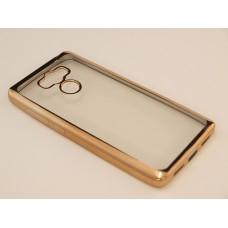 Крышка Xiaomi RedMi 4 Металлическая окантовка (Золотая)