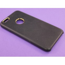 Крышка Apple iPhone 6 / 6s Brauffen с золотым оБодком (Черная)