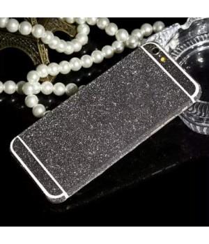 Наклейка Apple iPhone 5/5S Алмазные Блеск на 2 стороны (Графитный)