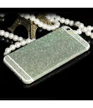 Наклейка Apple iPhone 5/5S Алмазные Блеск на 2 стороны (Салатовый)