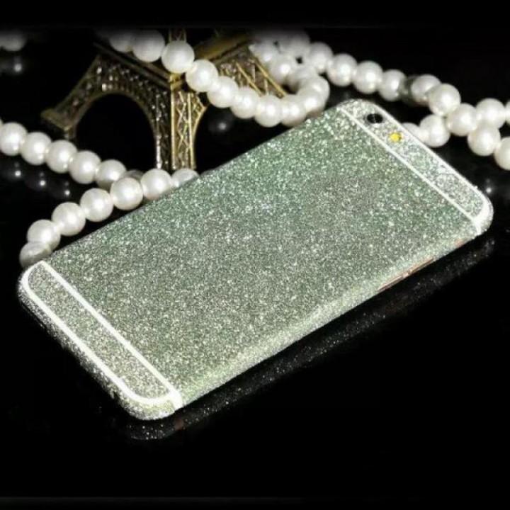 Наклейка Apple iPhone 6/6S Алмазные Блеск на 2 стороны (Салатовый)