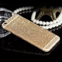 Наклейка Samsung J510 (J5 2016 ) Алмазный Блеск на 2 стороны (Золотая)