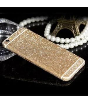 Наклейка Apple iPhone 5/5S Алмазные Блеск на 2 стороны (Золотой)