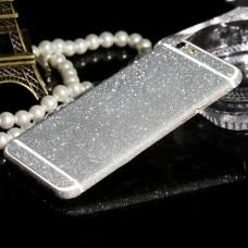 Наклейка Apple iPhone 6/6S Алмазные Блеск на 2 стороны (СереБряный)