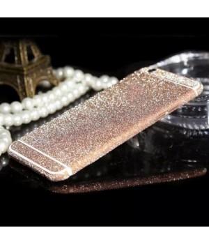 Наклейка Apple iPhone 6/6S Алмазные Блеск на 2 стороны (Розовый)