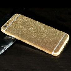 Наклейка Apple iPhone 6/6S Алмазные Блеск на 2 стороны (Темно Золотой)