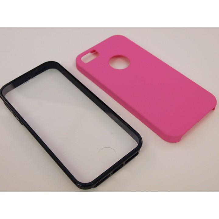 Крышка Apple iPhone 5/5S Две стороны с пленкой (Розовая)