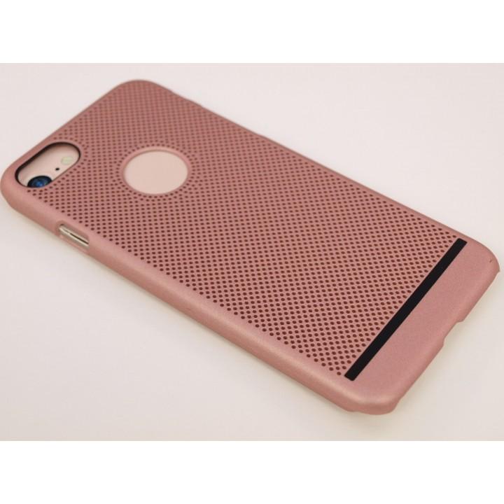 Крышка Apple iPhone 7 Сеточка Бархат (Бронза)