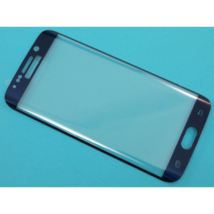 Защитное стекло Samsung G925 (S6 Edge) Изогнутое (Синее)