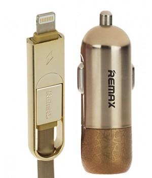 АвтомоБильное Зарядное Устройство 2 в 1 Apple 8pin/Micro Usb Remax Finchy RCC103 (3,4A)