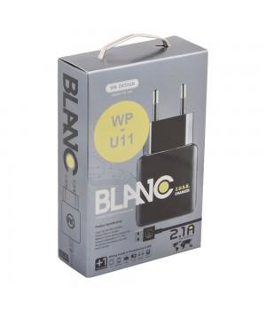 Сетевое Зарядное Устройство c 2 Usb Apple 8pin WK Blanc 2U WP-U11 (2,1A)