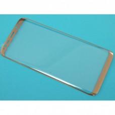 Защитное стекло Samsung G955f (Galaxy S8+) Изогнутое (Золотое)