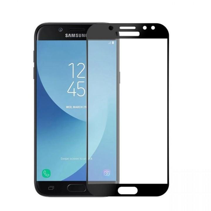 Защитное стекло Samsung J730f (J7-2017) Полный экран (Черное)