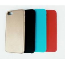 Крышка Apple iPhone 7 Plus Brauffen Кожа (ГолуБая)