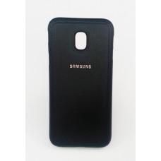 Крышка Samsung J730f (J7 2017) Кожа с прострочкой