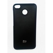 Крышка Xiaomi MI 6 Кожа с прострочкой (Черная)