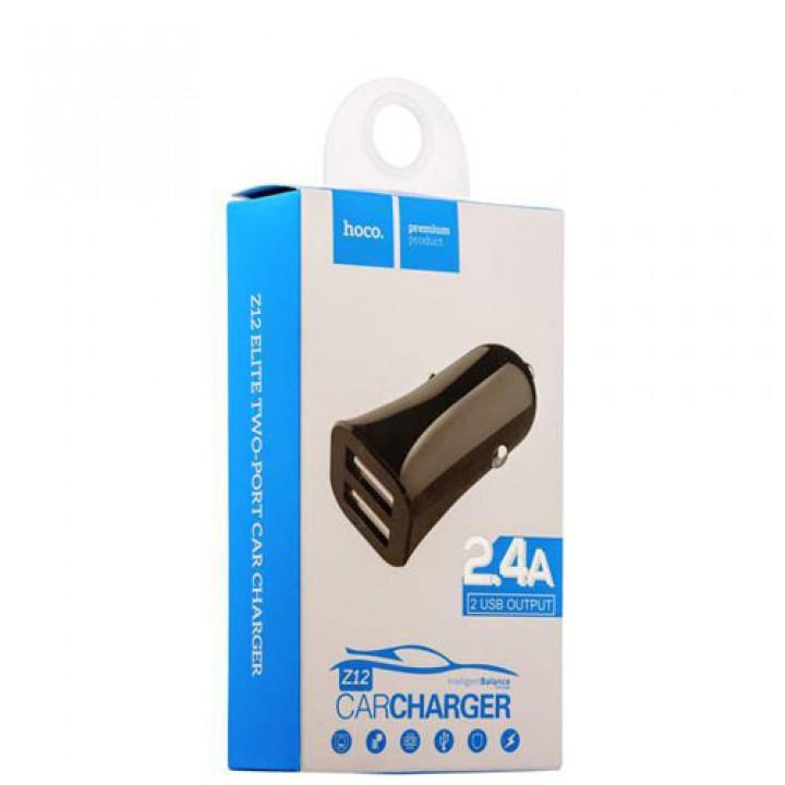 АвтомоБильное Зарядное Устройство с 2 USB (2,4A) Hoco Z12