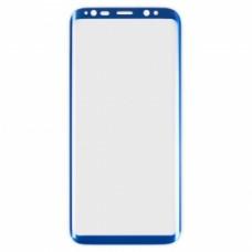 Защитное стекло Samsung G955f (Galaxy S8+) Изогнутое (Синее)