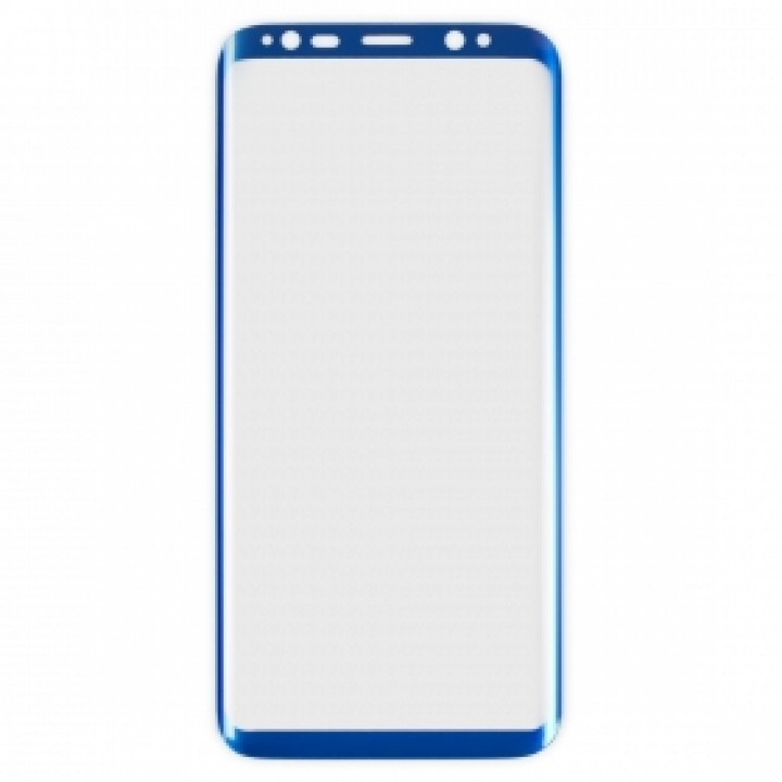 Защитное стекло Samsung G950f (Galaxy S8) Изогнутое (Синее)