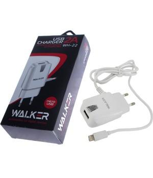 Сетевое Зарядное Устройство Walker Apple iPhone 5/iPad Air (2A)