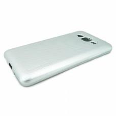 Крышка Samsung J120f (J1-2016) Motomo Силикон (СереБро)