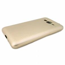 Крышка Samsung J105h (J1 Mini) Motomo Силикон (Золотая)