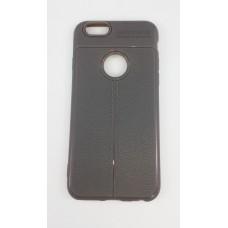 Крышка Apple iPhone 7 AutoFocus с прострочкой (Серая)