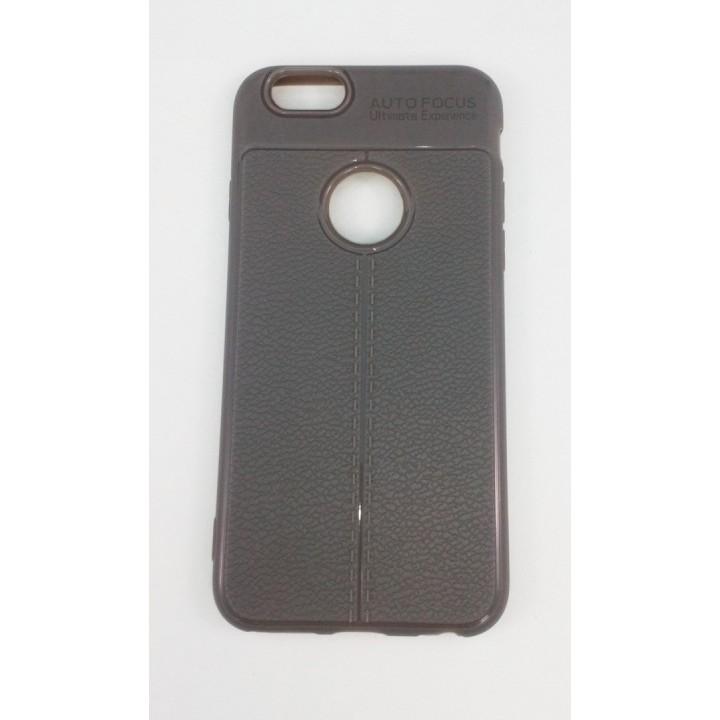 Крышка Apple iPhone 6 / 6s AutoFocus с прострочкой (Серая)
