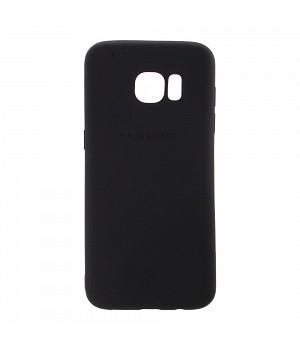 Крышка Samsung G925f (S6 Edge) Матовая (Черная)