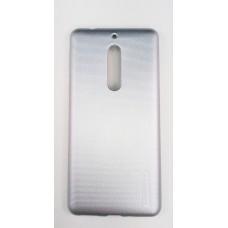 Крышка Nokia 5 Motomo Силикон (СереБряная)