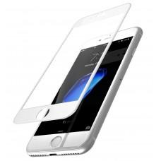 Защитное стекло Apple iPhone 8+ 5D (Белое)