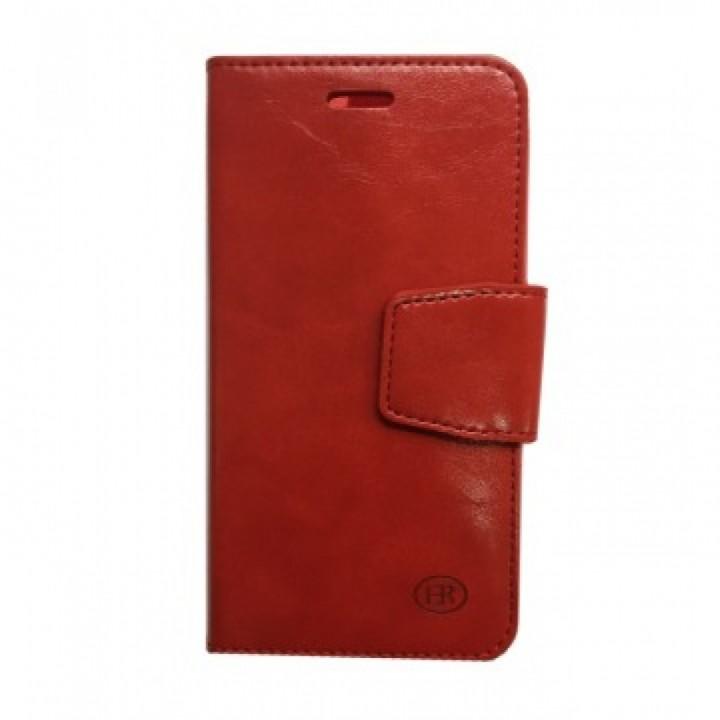 Чехол-книжка Samsung J300/J320 (J3/J3-2016) Бок с визитницей (Красный)