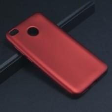 Крышка Xiaomi RedMi 4X Brauffen Бархатная (Красная)