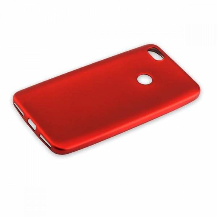 Крышка Xiaomi RedMi Note 5A Brauffen Бархатная (Красная)