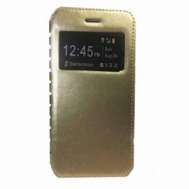 Чехол-книжка Nokia 3 Comk Бок (Золотой)