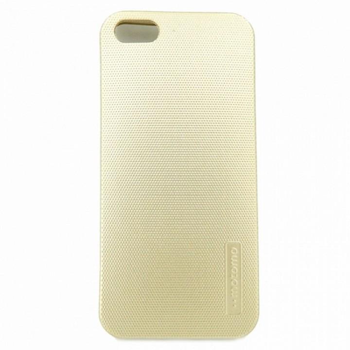 Крышка Apple iPhone 5/5S Motomo Силикон (Золотая)