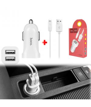 Азу Hoco Apple Lightning 8 pin (2Usb, 2,4A ) Z2A